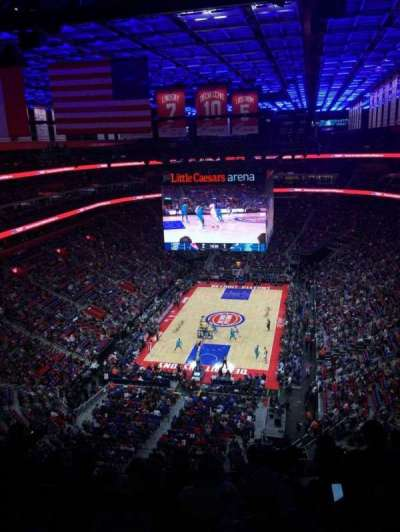 Little Caesars Arena, section: 218, row: 7, seat: 11