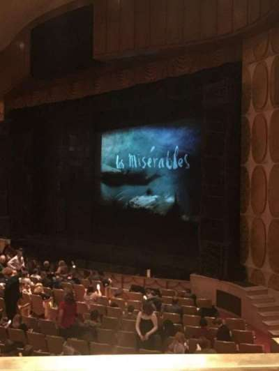 Fisher Theatre, section: MZRT, row: AA, seat: 64