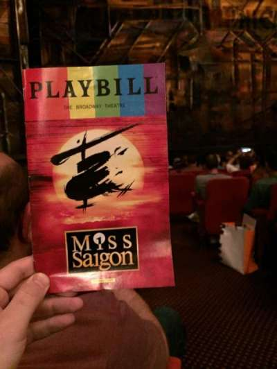 Broadway Theatre - 53rd Street, section: Orch, row: K, seat: 2