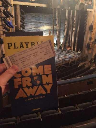 Gerald Schoenfeld Theatre, section: Mezz, row: E, seat: 25