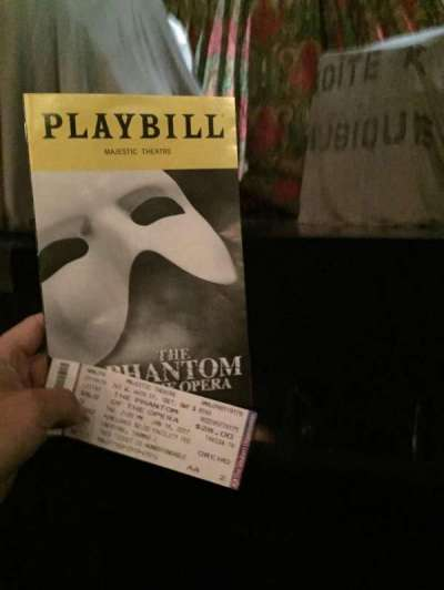 Majestic Theatre, section: Orch, row: AA, seat: 2