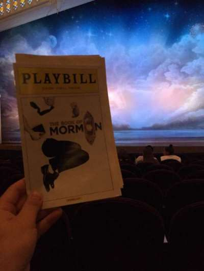 Eugene O'Neill Theatre, section: Orch, row: J, seat: 109