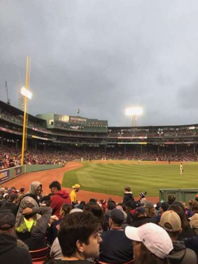 Fenway Park, section: Right Field Box 1, row: M, seat: 13