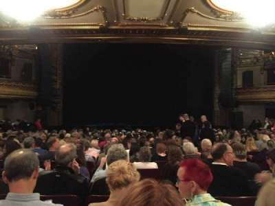 Palace Theatre (Broadway), section: ORCH, row: U, seat: 109