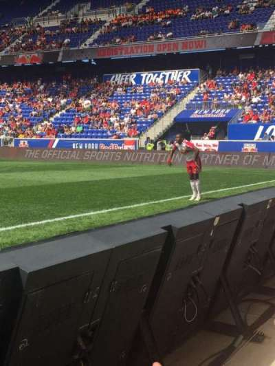 Red Bull Arena, section: 124f, row: 1, seat: 19
