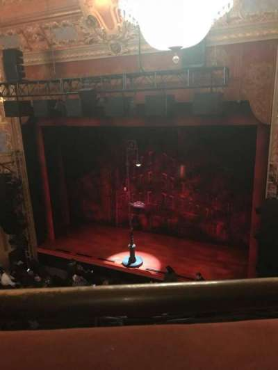 Longacre Theatre, section: Right Balcony, row: A, seat: 5