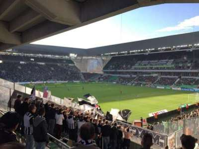 Stade Geoffroy-Guichard, section: Tribune H.Point, row: V30