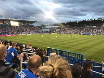 Stade Saputo, section: Sud, row: 120, seat: N28