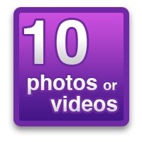 10 photos or videos
