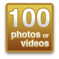 100 photos or videos