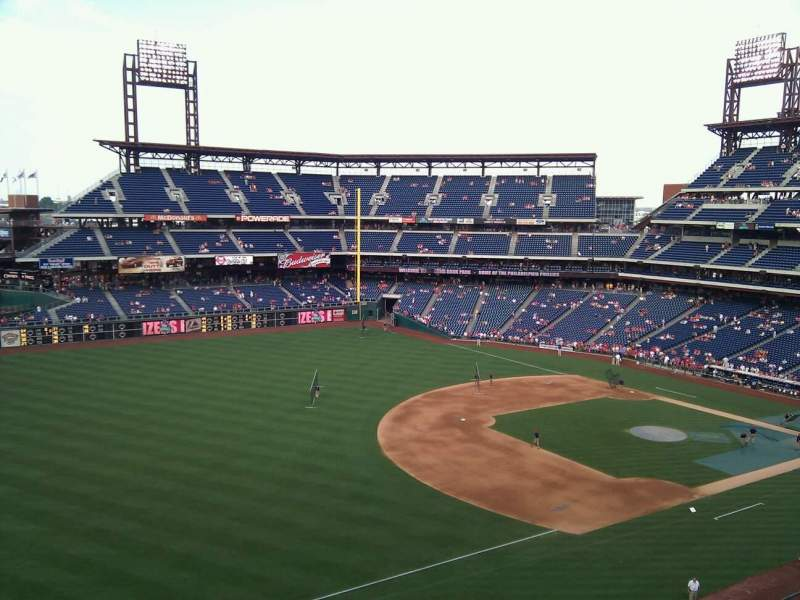 Seating view for Citizens Bank Park Section 330 Row 3 Seat 20