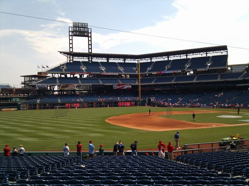 Seating view for Citizens Bank Park Section 137 Row 16 Seat 12