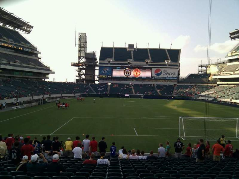 Seating view for Lincoln Financial Field Section 110 Row 18 Seat 24