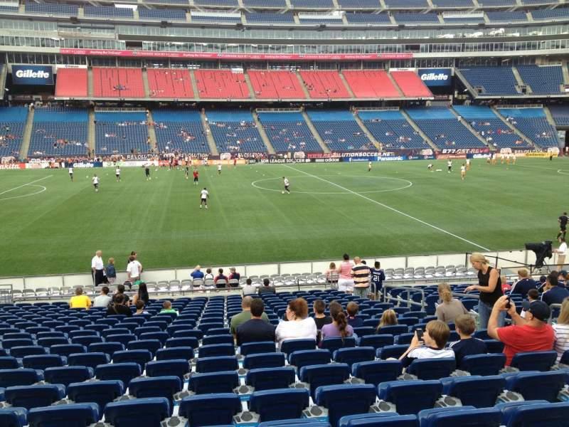 Gillette Stadium, section: 133, row: 20, seat: 8