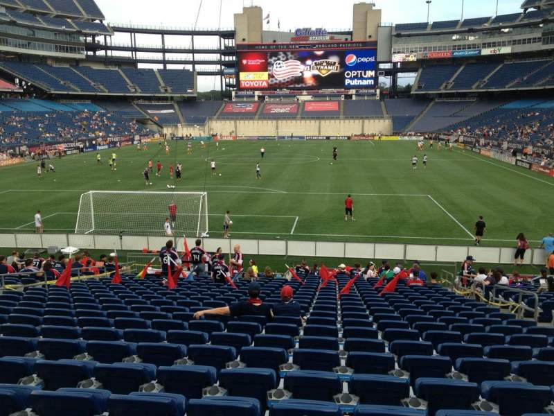 Gillette Stadium, section: 142, row: 23, seat: 7