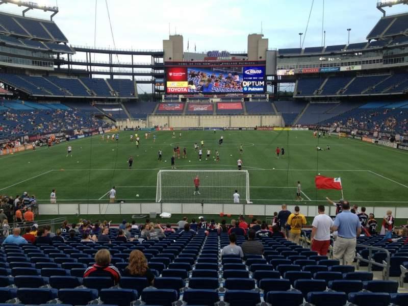 Gillette Stadium, section: 143, row: 24, seat: 6