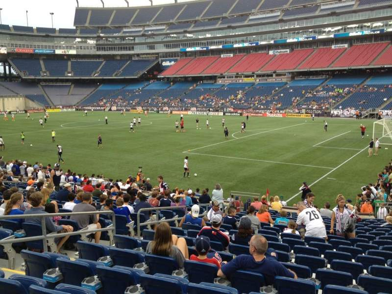Gillette Stadium, section: 104, row: 19, seat: 11