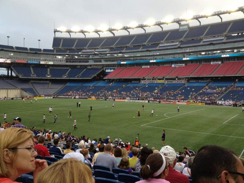 Gillette Stadium, section: 104, row: 20, seat: 2