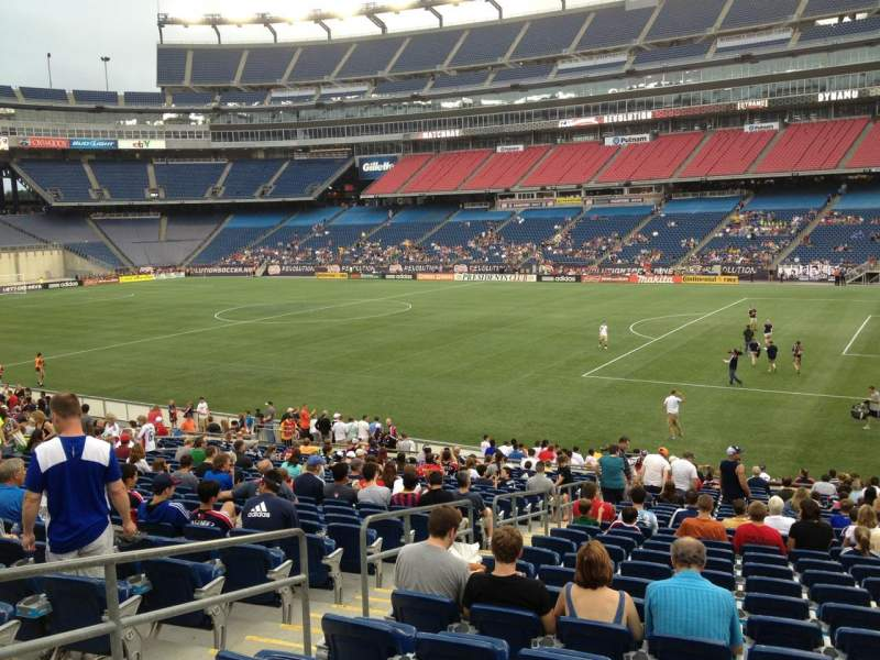 Gillette Stadium, section: 105, row: 25, seat: 12