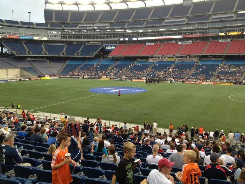 Gillette Stadium, section: 107, row: 24, seat: 3