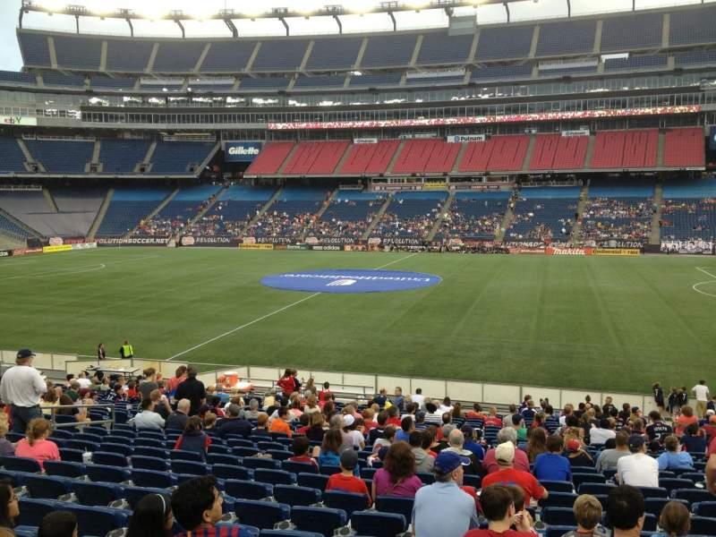 Gillette Stadium, section: 108, row: 24, seat: 8