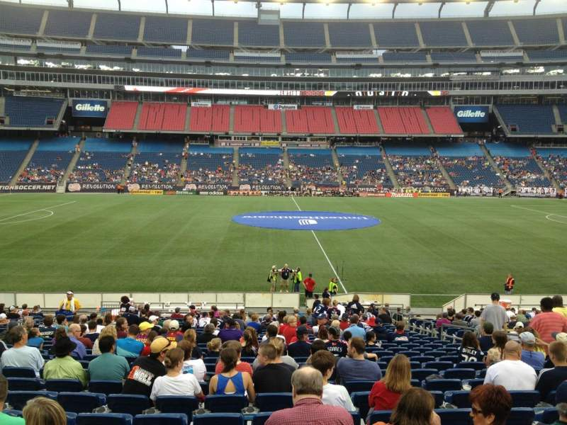 Gillette Stadium, section: 110, row: 24, seat: 8