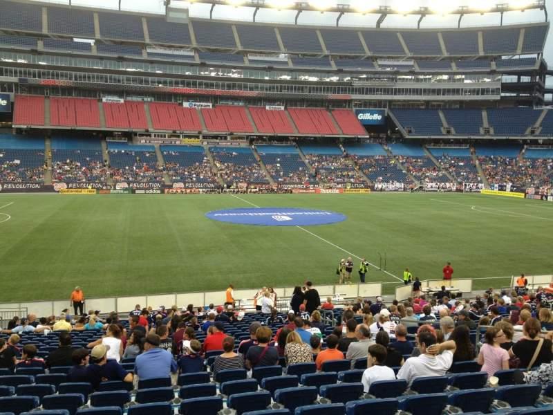 Gillette Stadium, section: 111, row: 24, seat: 10