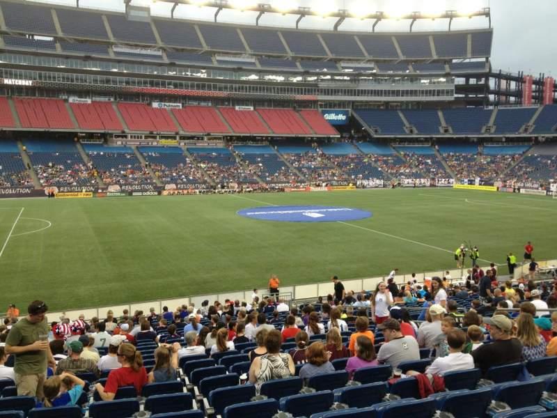Gillette Stadium, section: 112, row: 24, seat: 13