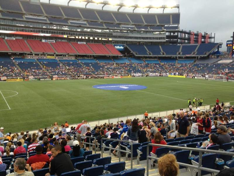 Gillette Stadium, section: 113, row: 24, seat: 4