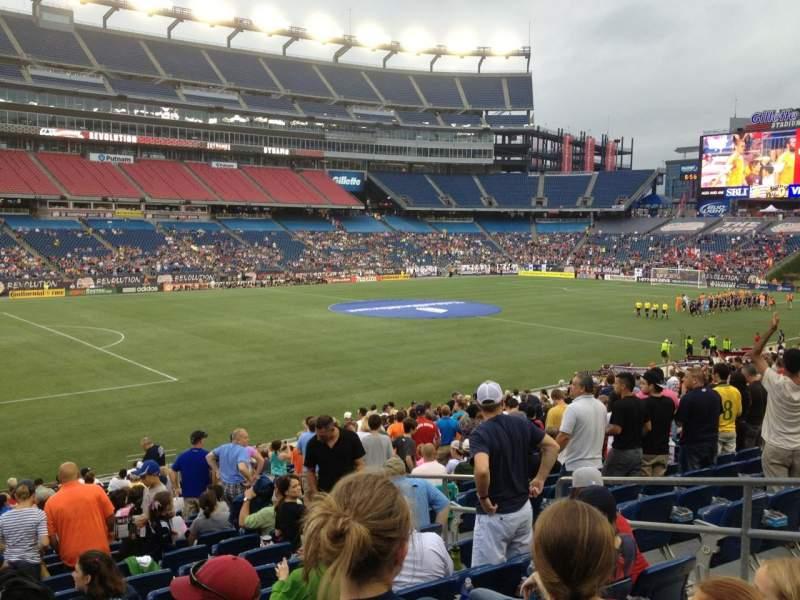 Gillette Stadium, section: 114, row: 24, seat: 7