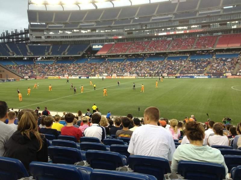 Gillette Stadium, section: 129, row: 20, seat: 11