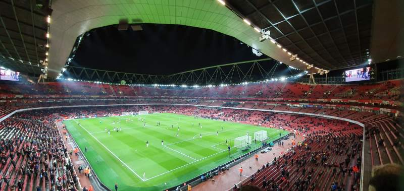 Seating view for Emirates Stadium Section 106 Row 2 Seat 417