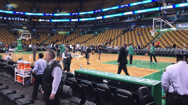 Seating view for TD Garden Section Loge 20 Row 1 Seat 7
