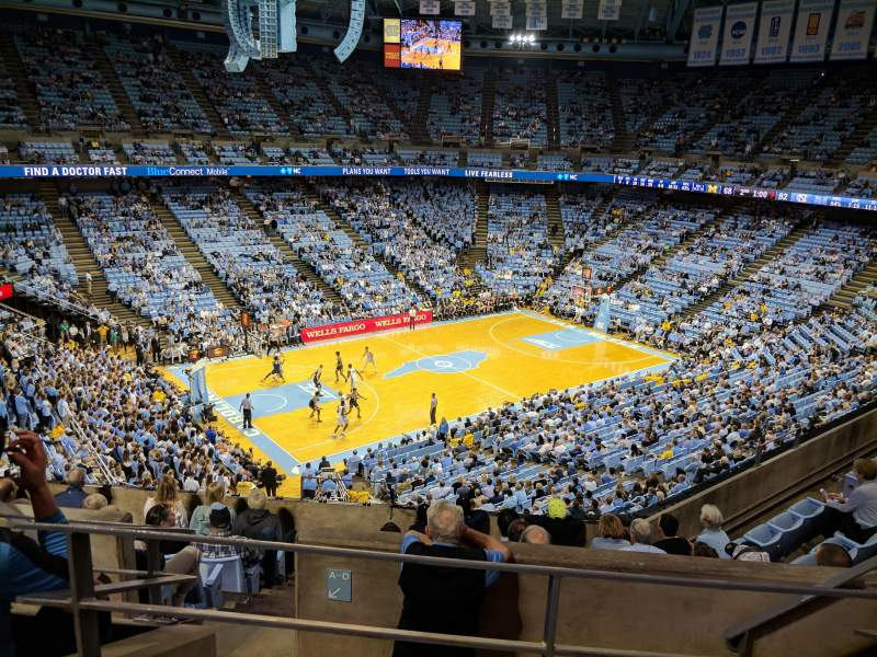 Dean dome section 222 row g seat 7 north carolina tar for Restaurant seating chart app