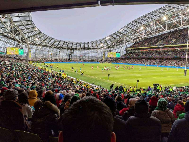 Seating view for Aviva Stadium Section 119 Row CC Seat 18