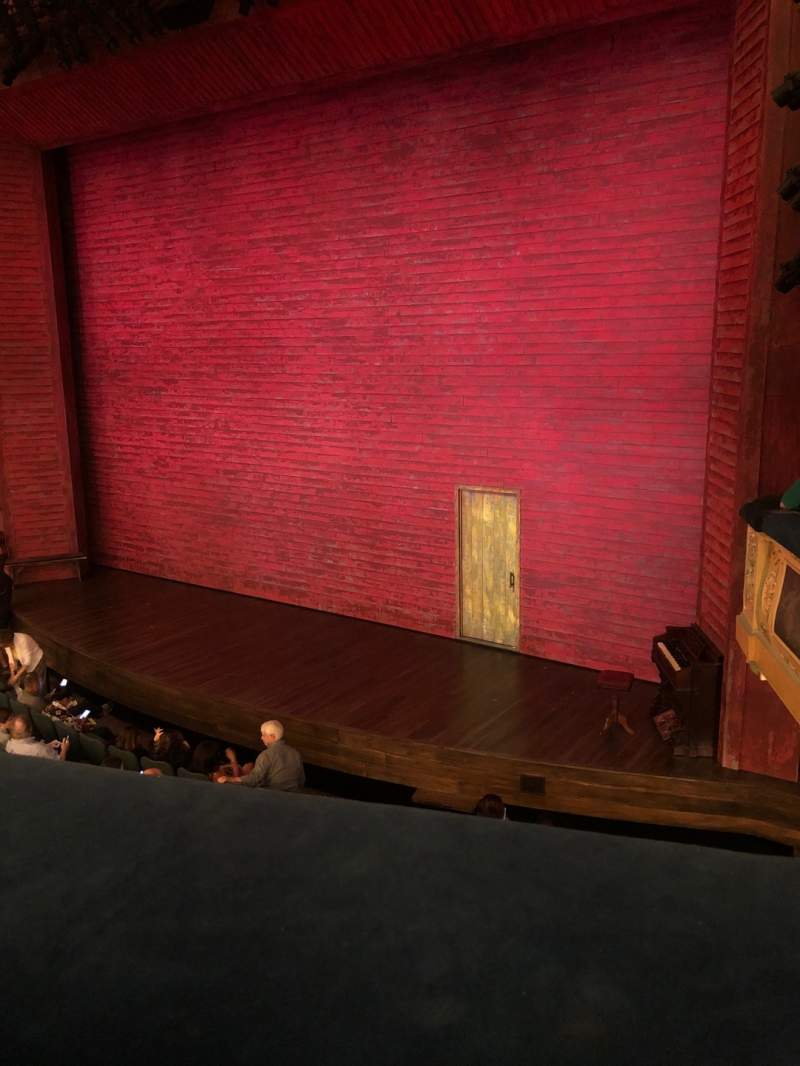 Seating view for Shubert Theatre Section Mezzanine R Row A Seat 16