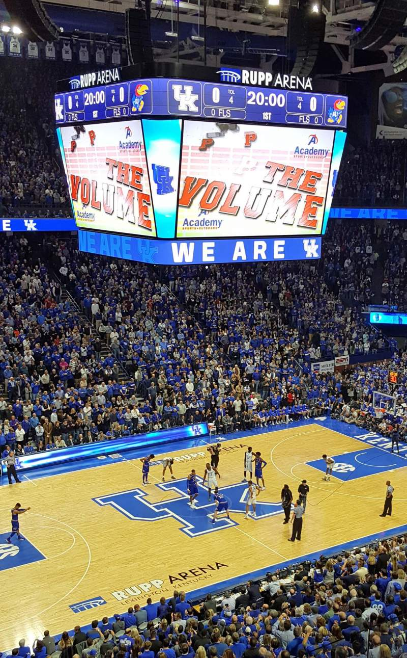 Seating view for Rupp Arena Section 215 Row D Seat 20