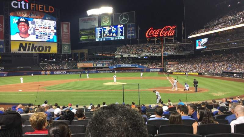 Seating view for Citi Field Section 18 Row 16 Seat 11