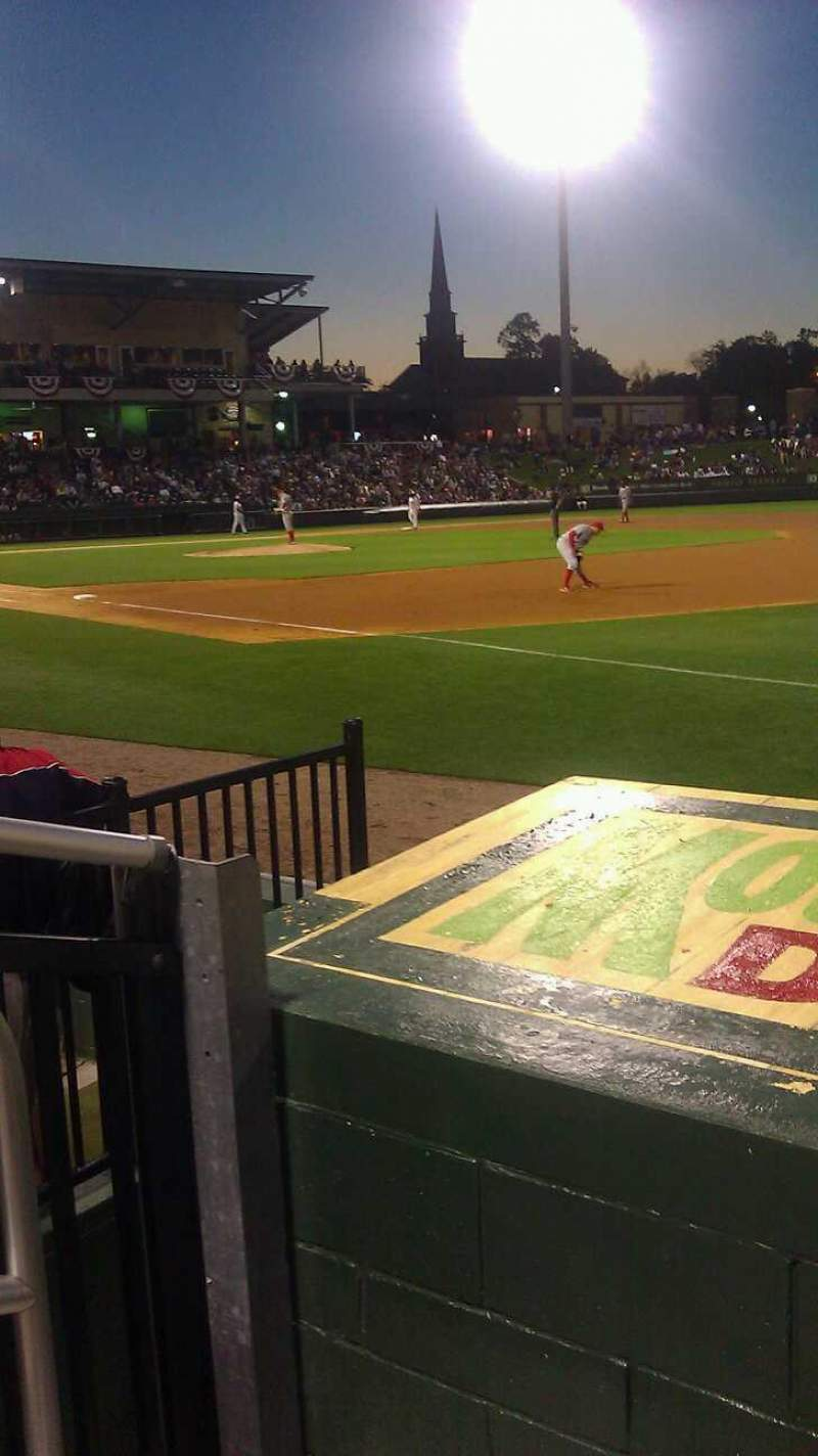 Seating view for Fluor Field Section 116 Row E Seat 14
