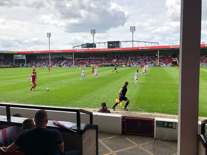 Seating view for Bescot Stadium Section C Row F Seat 063