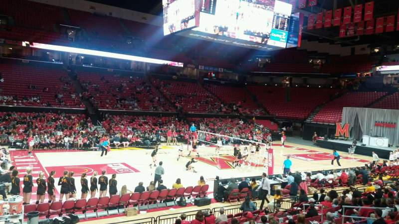 Seating view for Xfinity Center (Maryland) Section 126 Row 3 Seat 17