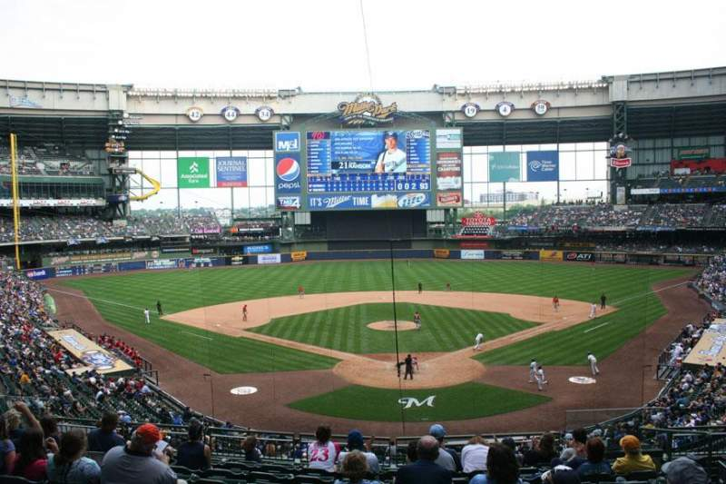 Miller Park Section Press Box Home Of Milwaukee Brewers