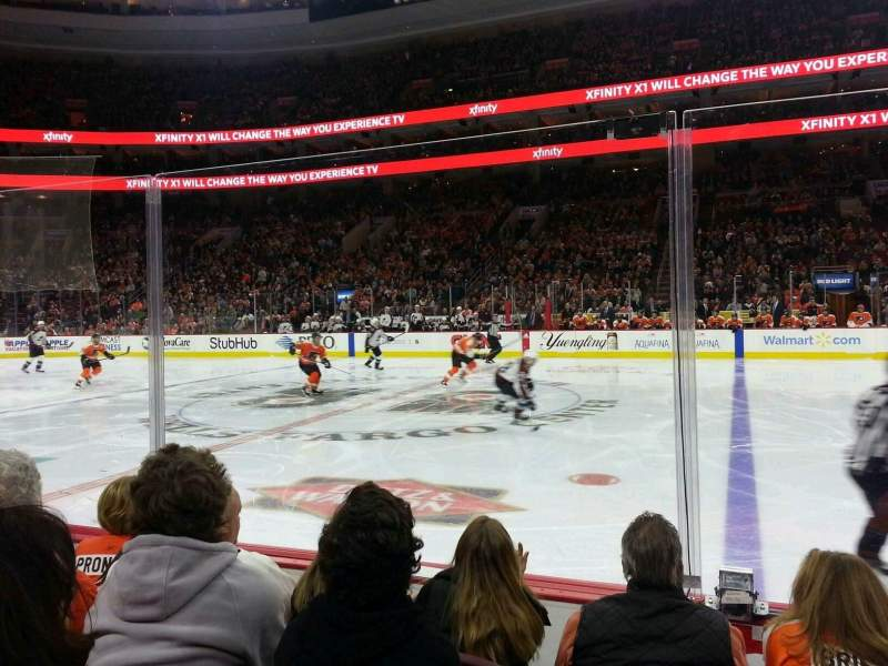 Seating view for Wells Fargo Center Section 114 Row 4 Seat 6
