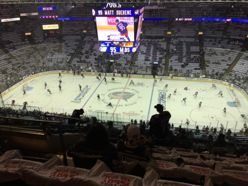 Seating view for Nationwide Arena Section 216 Row L Seat 18