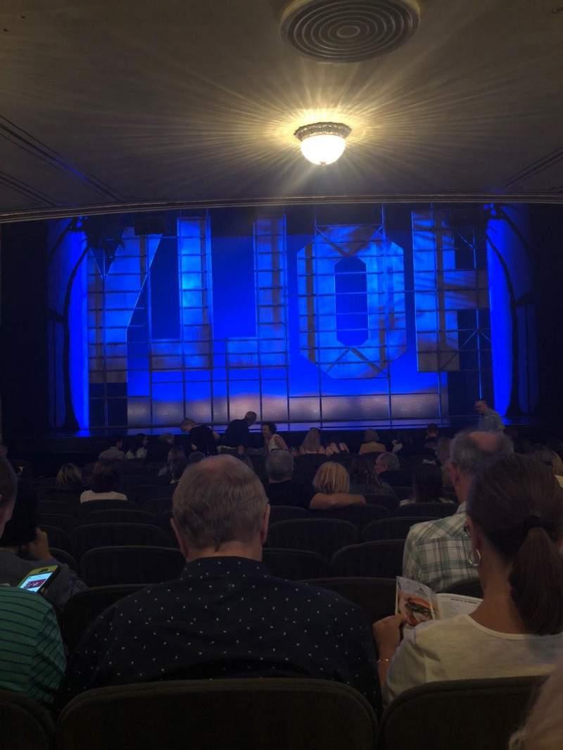 Nederlander Theatre, section: Orchaestra, row: P, seat: 108