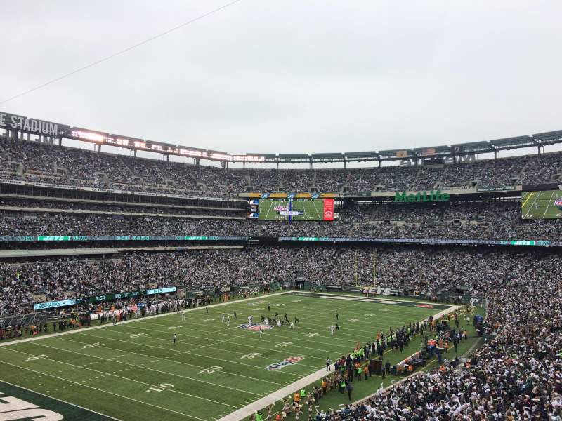 Seating view for MetLife Stadium Section 245A Row 2 Seat 7