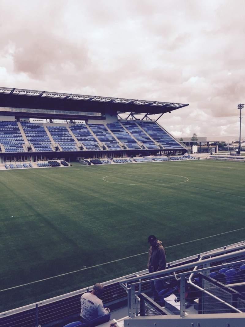 Avaya Stadium, section 125, row 7, seat 6 - San Jose