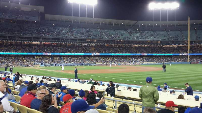 Dodger Stadium, section 40FD, row G, seat 5 - Los Angeles Dodgers vs Los Angeles Angels of ...