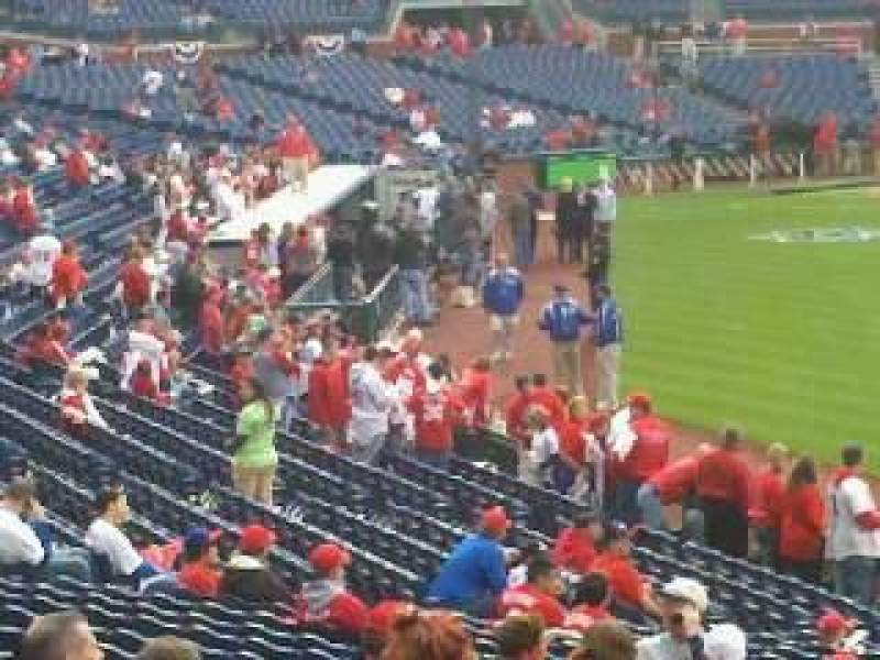 Seating view for Citizens Bank Park Section 108 Row 25 Seat 14