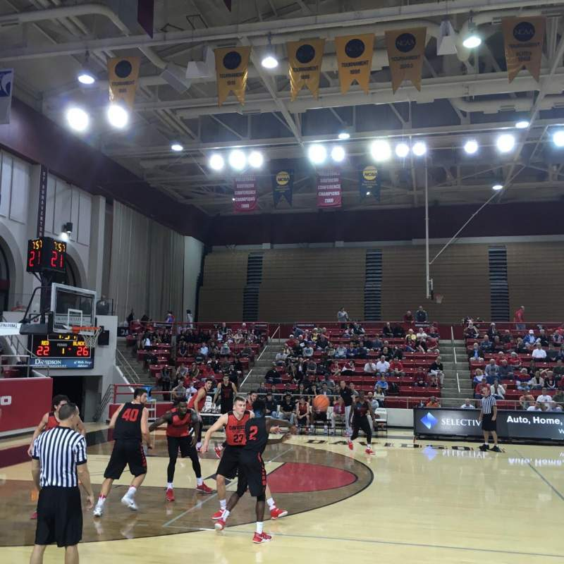 John M. Belk Arena, section: 9, row: B, seat: 1